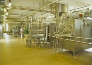 Fabrik indefra maskiner